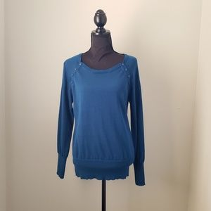 Kenneth Cole Blue Pull Over Sweater